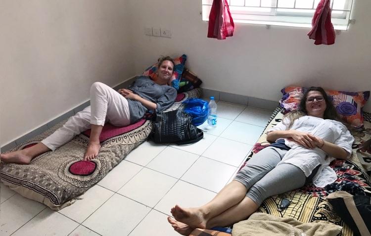 Basic accommodation with futons in Bangalore