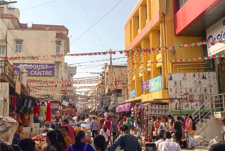 Main shopping street in Bangalore