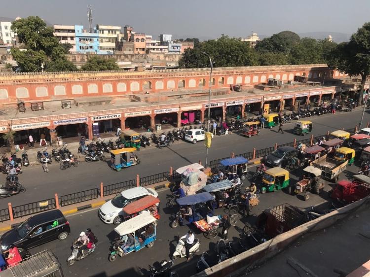 Pink buildings in Jaipur Rajasthan