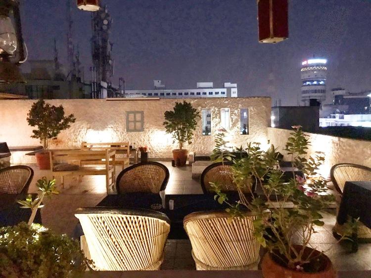 Moustache Hostel Jaipur roof terrace