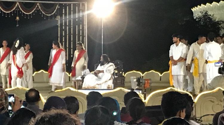 Performances during Satsang at the Art of Living Ashram in Bangalore