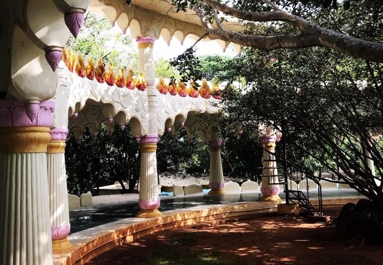 The original main temple at the Art of Living Ashram in Bangalore