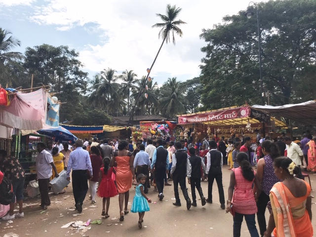 Crowds at the Feast of St Francis Xavier Festival in Goa, India
