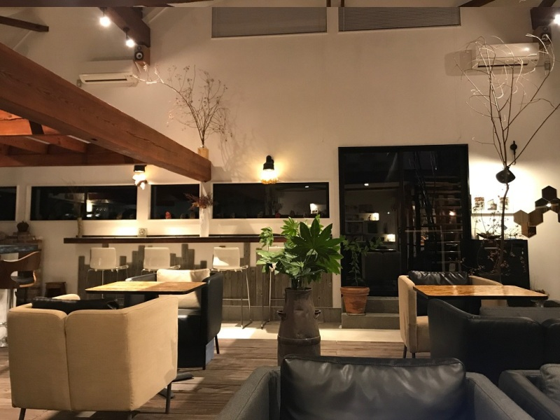 Chic modern cafe in rural Japan